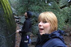 Rock Climbing Photo: Aaron belaying at Nutcracker