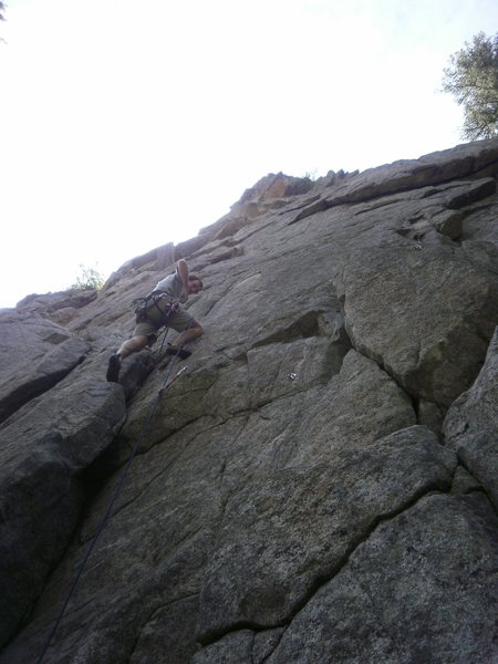 Rock Climbing Photo: Starting up for the right variation.  Step right a...