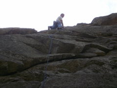 Rock Climbing Photo: Turning that little roof is fun (not as hard as th...
