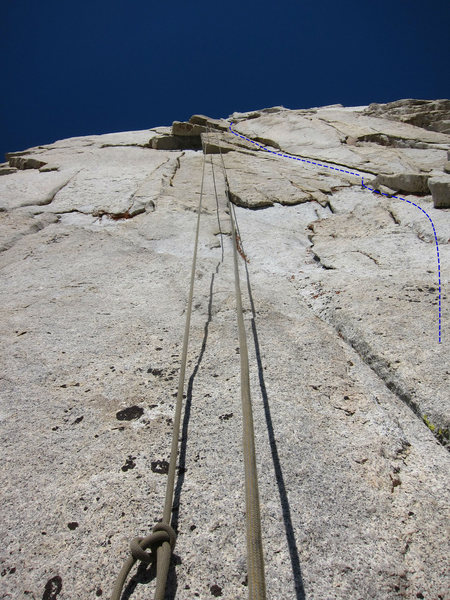 View of P4 from the P3 Belay.