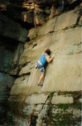 Rock Climbing Photo: Unknown climber on Rastafaria. This photo appeared...