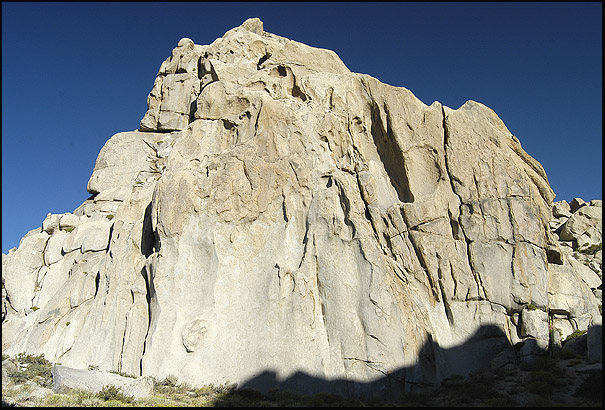 Rock Climbing Photo: The Slab, from South Mt. Klieforth. Photo by Blitz...