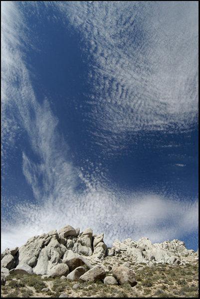 Rock Climbing Photo: Cool Sky. Photo by Blitzo.