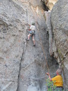 "Rock Climbing Photo: Fritz belayed by Brokedownclimber on ""Snakes ..."