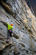 Rock Climbing Photo: Andy Hansen warms up at Drive-By November 2010 mat...