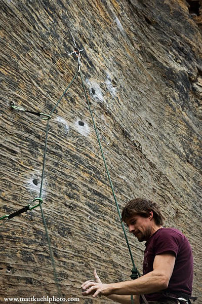 Rock Climbing Photo: Eddie Avallone goes for attempt 2.  Don't mind the...