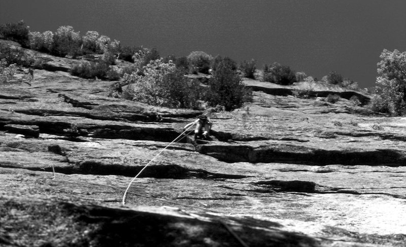 Rock Climbing Photo: B. Côté on the 2nd ascent of Pixie in 1979