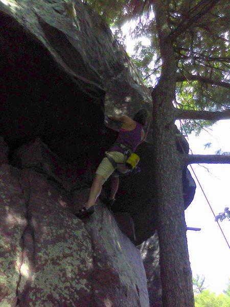 Rock Climbing Photo: Louise, looking at the business.