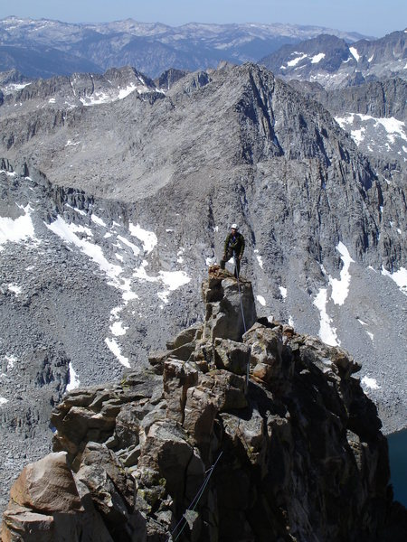 Top of the first tower on McKenzie's Arete