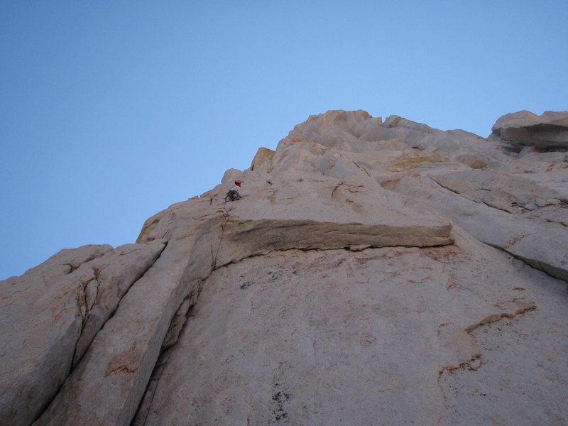 Rock Climbing Photo: Pitch 1. Blowhard.