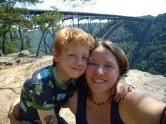 Rock Climbing Photo: La familia Ream at the New River Gorge.  Summer 20...