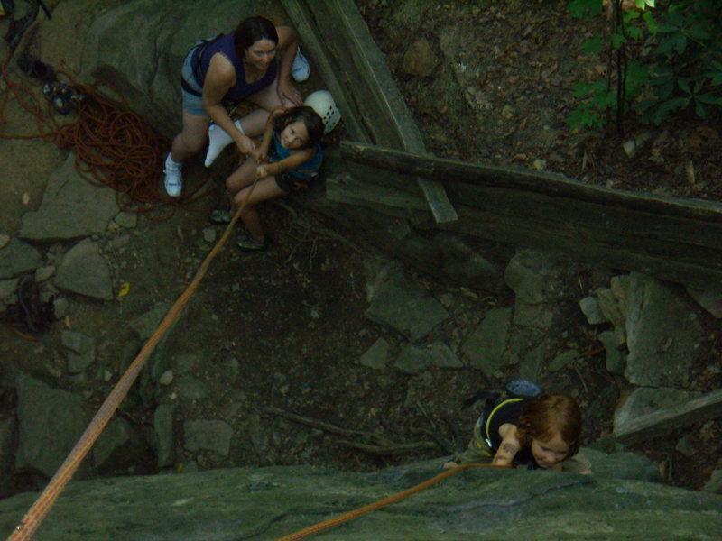 La Familia Ream at the New River Gorge.  Summer 2011.
