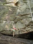 Rock Climbing Photo: Ava - swimming and climbing at Summersville Lake. ...