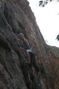 Rock Climbing Photo: Leeanne on Trouthead.