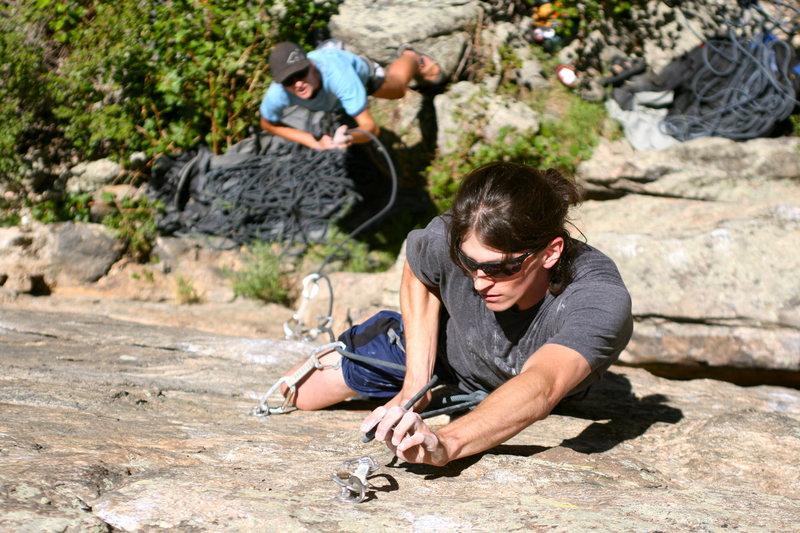 Rock Climbing Photo: Erick on Waffle House. Photo Greg Parker.