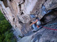 Rock Climbing Photo: Gene on Triple S!