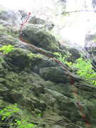 Rock Climbing Photo: The upper portion of Keltenpfad.