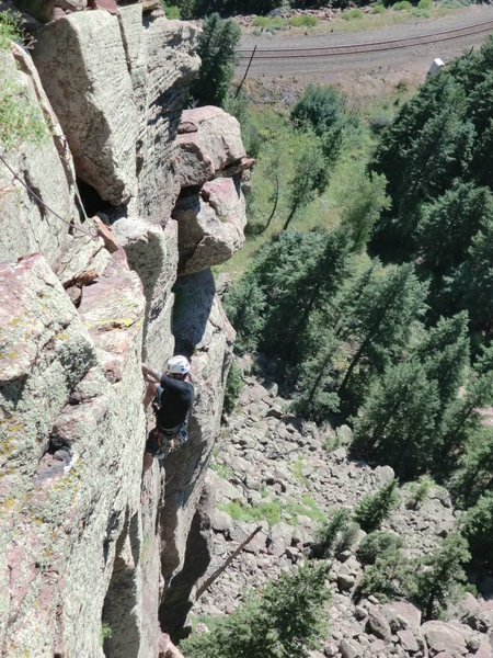 Rock Climbing Photo: Taken from the base of the Red Dihedral at the top...