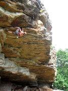 Rock Climbing Photo: Fun roof moves!