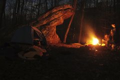 Rock Climbing Photo: camping out next to a fun boulder