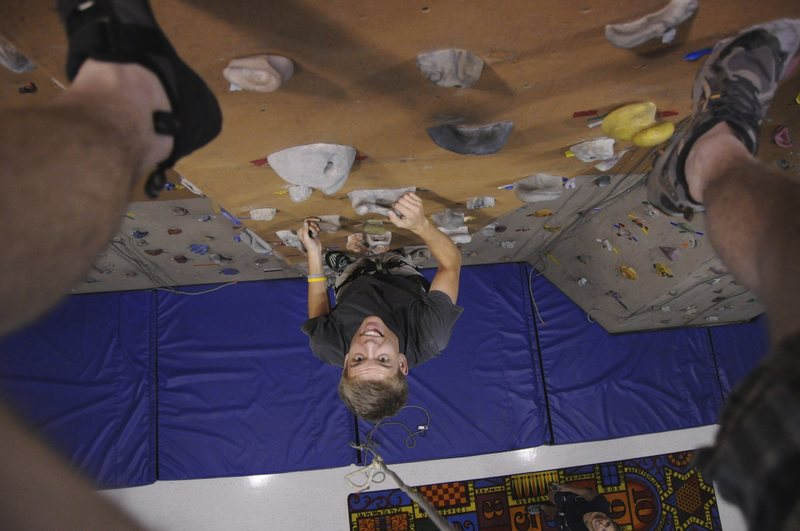 lucas bouldering <br> a good friendly crowd here, willing to teach and learn.