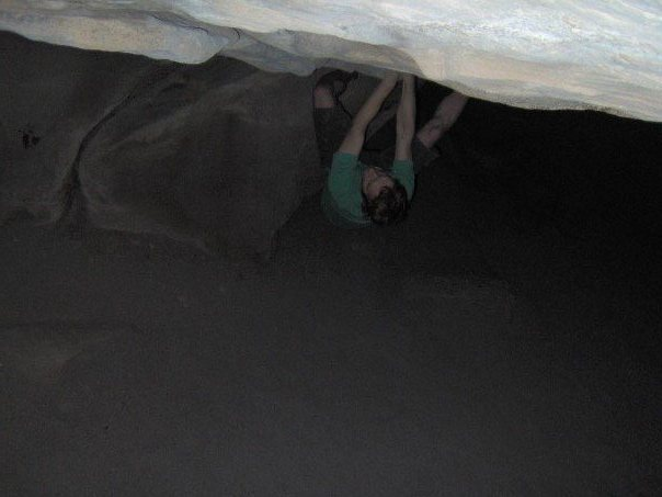 Rock Climbing Photo: Can anyone identify this overhanging boulder probl...