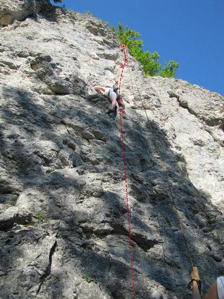 Rock Climbing Photo: Eidechsenweg (R 2)