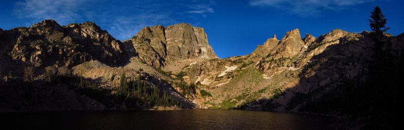 Hallett Peak from Emerald Lake.