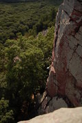 Rock Climbing Photo: A friend on top rope