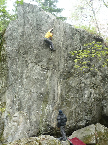 Rock Climbing Photo: Chris Deulen being watched by Bill Morse near the ...