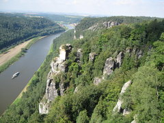 Rock Climbing Photo: The Elbe River with some sandstone towers!