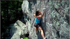 Rock Climbing Photo: Katie having fun..