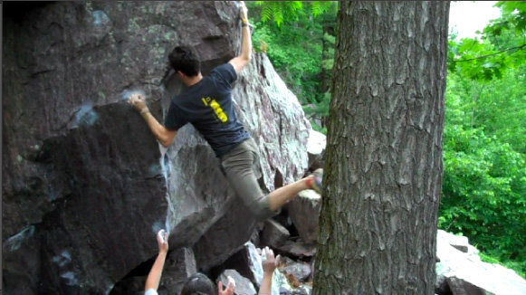 Rock Climbing Photo: Jeremy fires off the second ascent