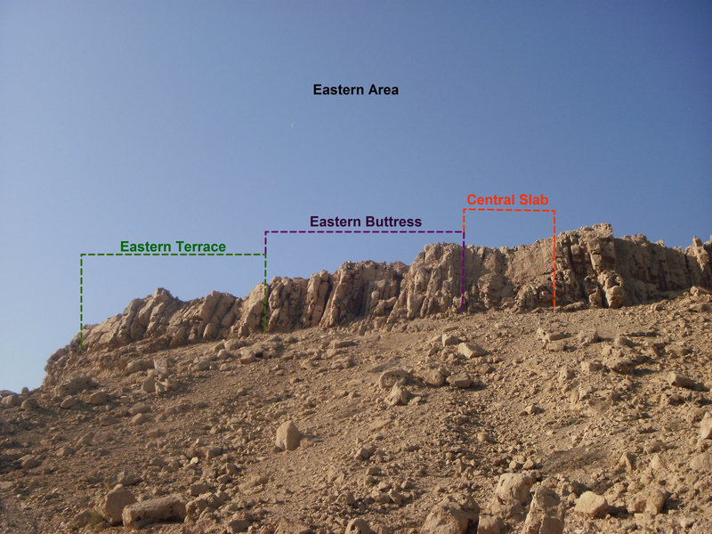 Layout of the Eastern Section of Hatta Crag.