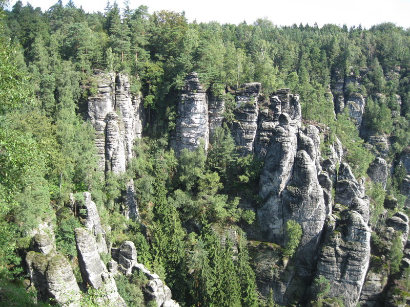 First overlook view in Bastei