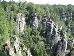 Rock Climbing Photo: First overlook view in Bastei
