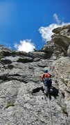 Rock Climbing Photo: Paul Horton leading the first pitch on the ridge p...