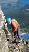 Rock Climbing Photo: Paul Horton scrambling up the gray ledge to the se...