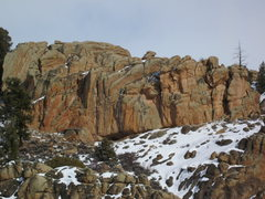 Rock Climbing Photo: Every Day is a Gift is the rightmost, bolted route...