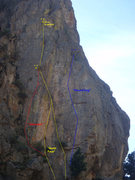 """Rock Climbing Photo: Beta Photo showing """"Unknown"""", and its re..."""