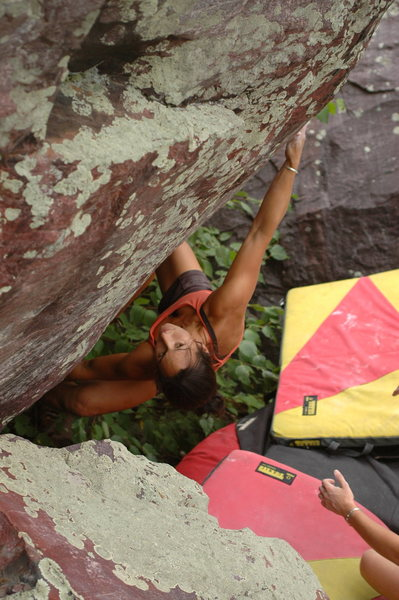 Rock Climbing Photo: Katie on Bunker Arete.