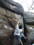 Rock Climbing Photo: BC working on Less than Thievery.