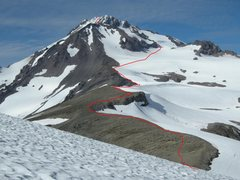Rock Climbing Photo: The route from Glacier Gap.