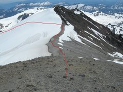 Rock Climbing Photo: Looking back at the Gerdine Ridge, and Disappointm...