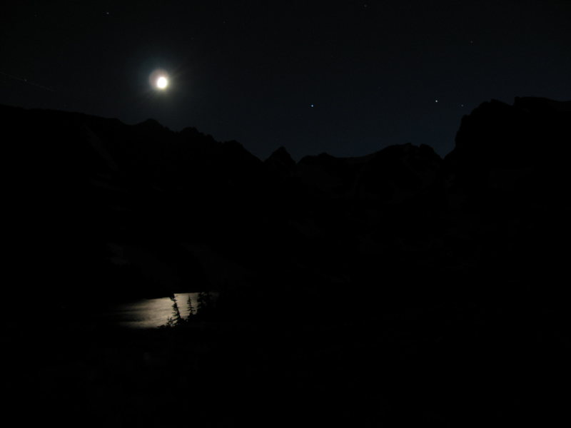 Rock Climbing Photo: Start of Pawnee pass at ~10pm.