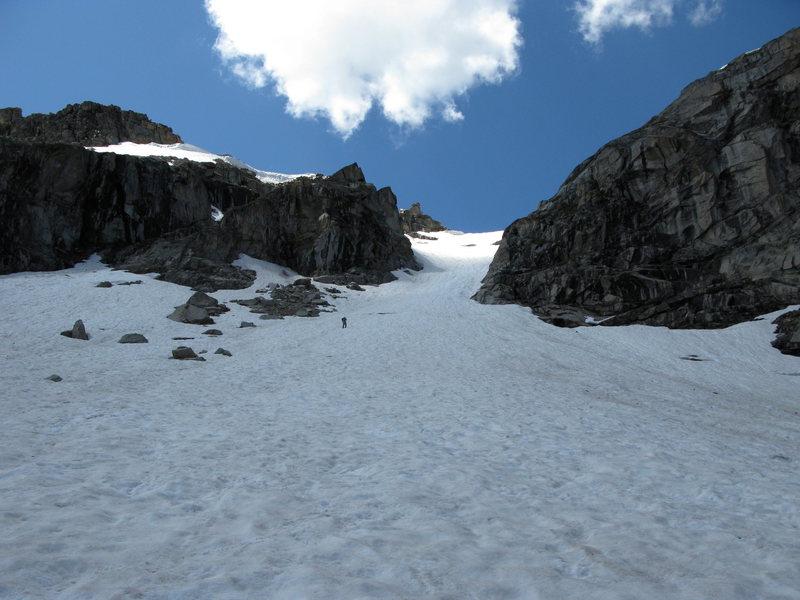 Rock Climbing Photo: Heading up snow field to summit Achonee.