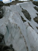 Rock Climbing Photo: Descending Hopi Glacier. Lots of loose rock, snow ...