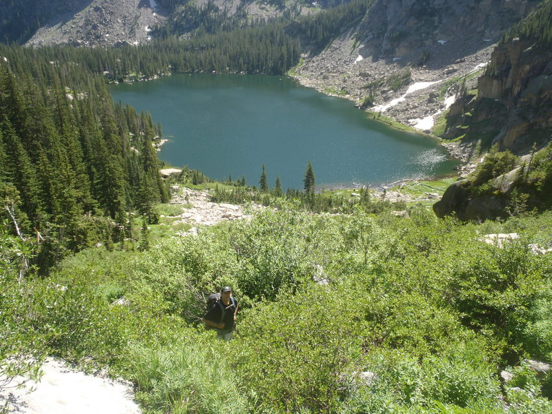 Rock Climbing Photo: No trail to this summit... all bushwhacking to the...