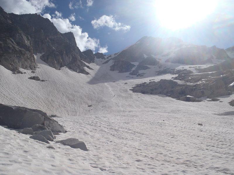 Glissading Hopi Glacier.