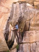 Rock Climbing Photo: The stretch move, if you're short....